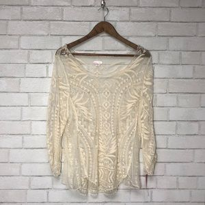 Lace Sheer Top